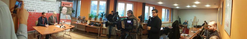 Relacja z konferencji prasowej z udziałem posła Grzegorza Długiego.