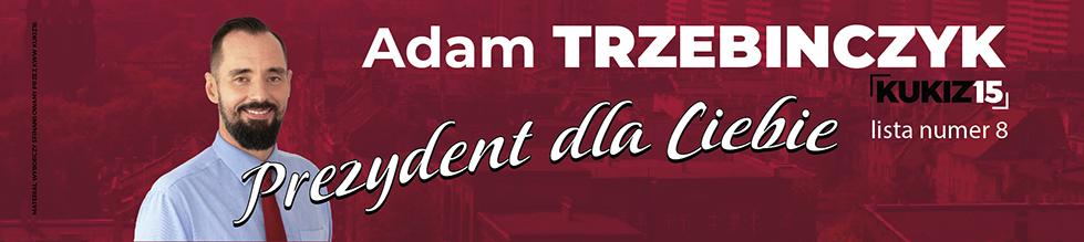Adam Trzebinczyk, kandydat na Prezydenta, lista numer 8, Prezydent dla Ciebie, Kukiz15