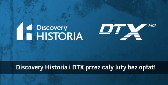 Otwarte okno Discovery Historia i DTX dla abonentów Graficom