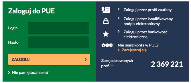 profil na Platformie Usług Elektronicznych