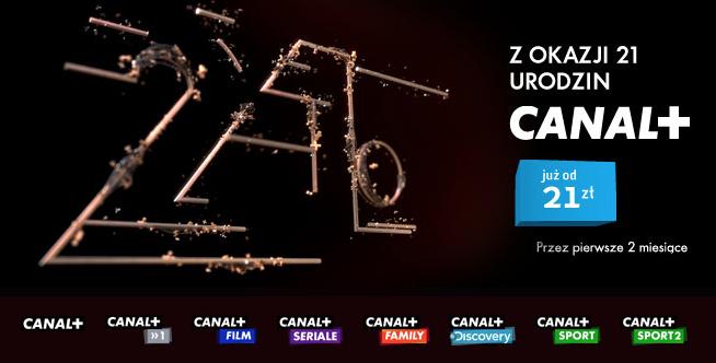 21 Urodziny CANAL+, w sieci Graficom.
