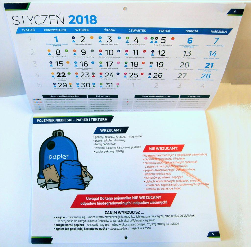 Specjalny kalendarz przypomni o segregacji odpadów