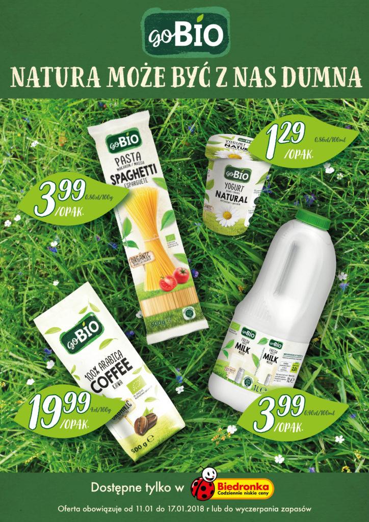 goBio – natura może być dumna z nowej marki Biedronki