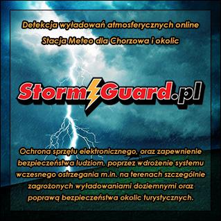StormGuard.pl - Detekcja wyładowań atmosferycznych online, Stacja Meteo dla Chorzowa i okolic